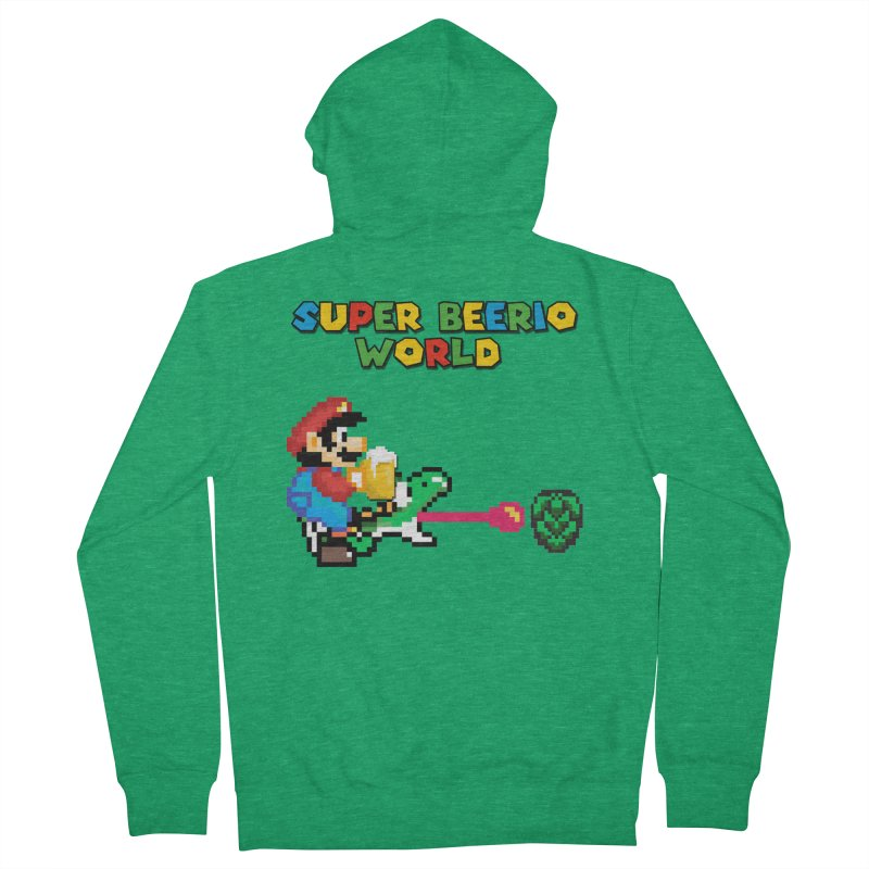 Super Beerio World Women's French Terry Zip-Up Hoody by DrinkIN GeekOUT's Artist Shop