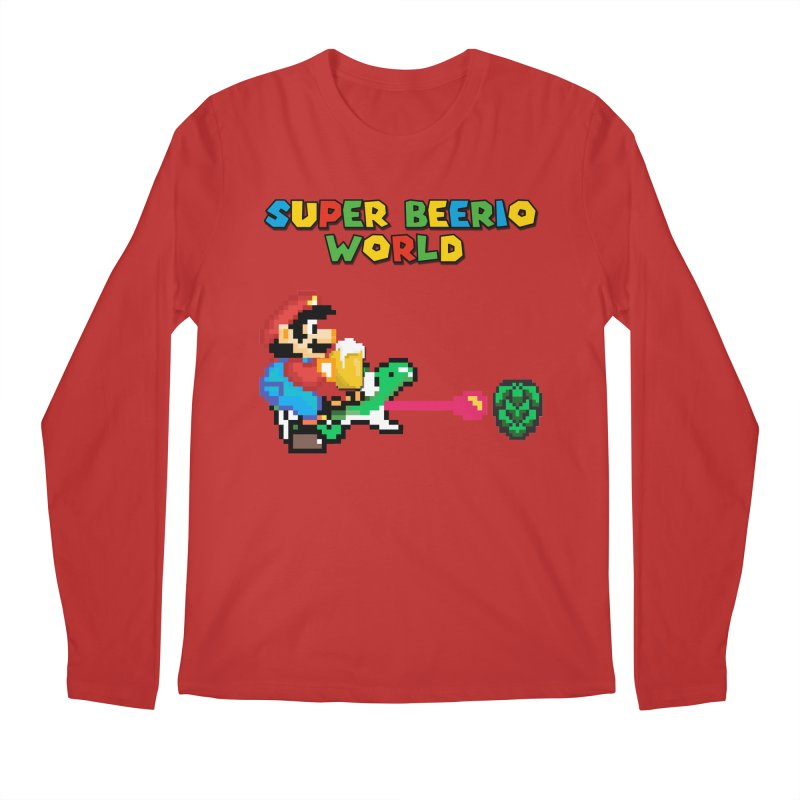 Super Beerio World Men's Regular Longsleeve T-Shirt by DrinkIN GeekOUT's Artist Shop