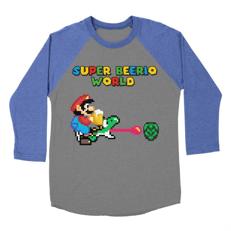 Super Beerio World Men's Baseball Triblend Longsleeve T-Shirt by DrinkIN GeekOUT's Artist Shop