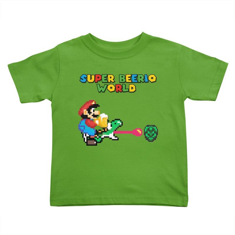 Super Beerio World Kids Toddler T-Shirt by DrinkIN GeekOUT's Artist Shop