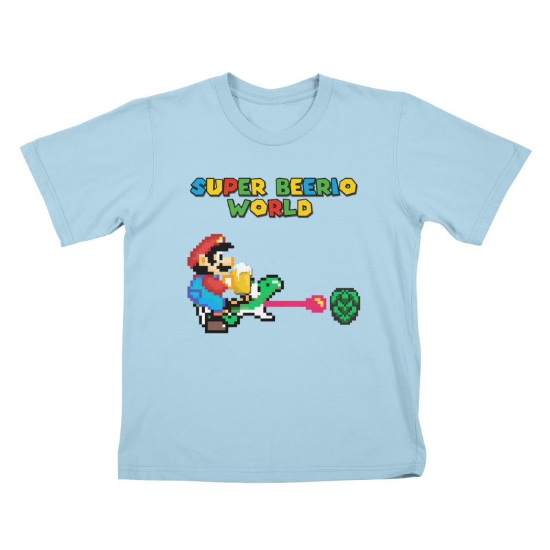 Super Beerio World Kids T-Shirt by DrinkIN GeekOUT's Artist Shop