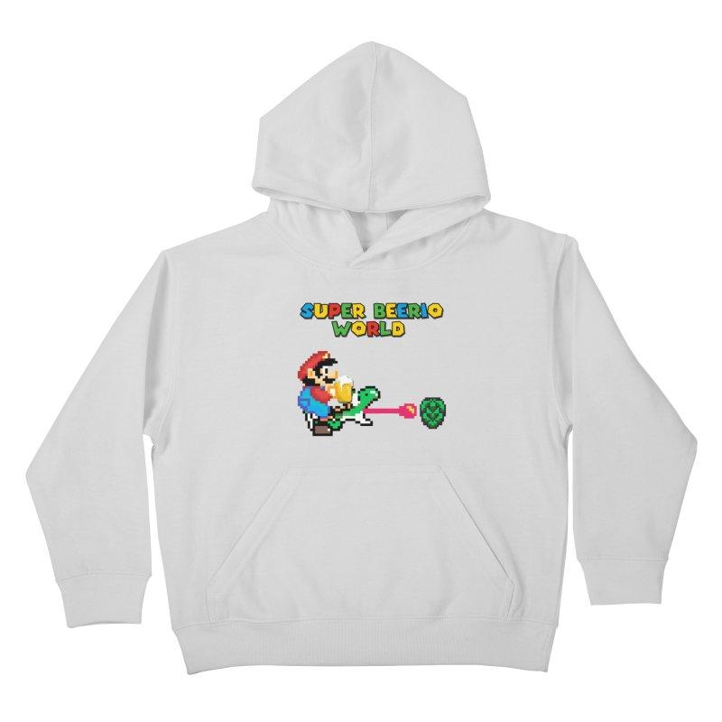 Super Beerio World Kids Pullover Hoody by DrinkIN GeekOUT's Artist Shop