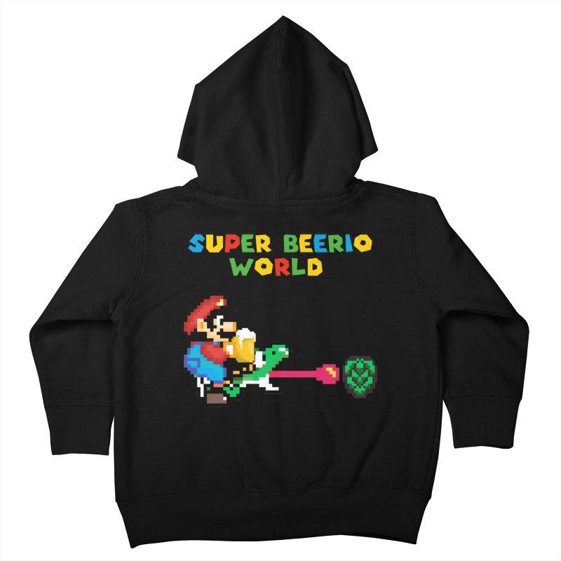 Super Beerio World Kids Toddler Zip-Up Hoody by DrinkIN GeekOUT's Artist Shop