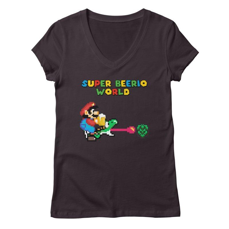 Super Beerio World Women's Regular V-Neck by DrinkIN GeekOUT's Artist Shop