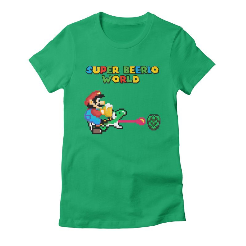 Super Beerio World Women's Fitted T-Shirt by DrinkIN GeekOUT's Artist Shop