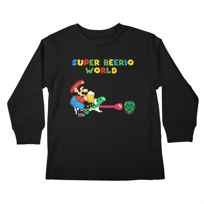 Super Beerio World Kids Longsleeve T-Shirt by DrinkIN GeekOUT's Artist Shop