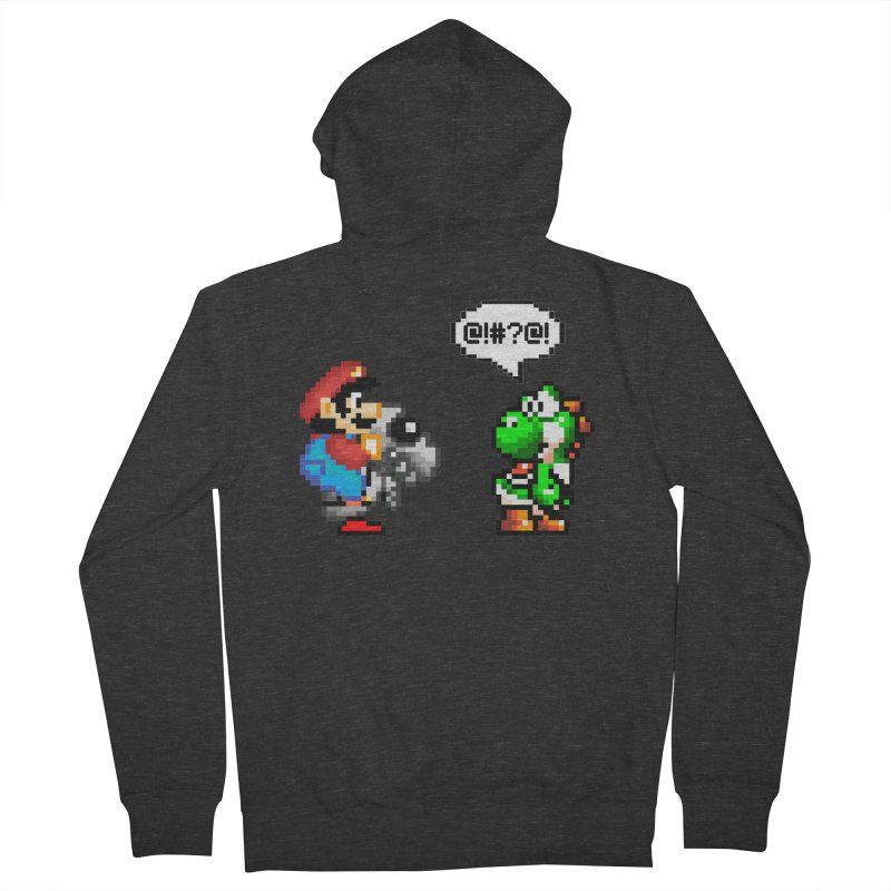 Caught Cheating Men's French Terry Zip-Up Hoody by DrinkIN GeekOUT's Artist Shop