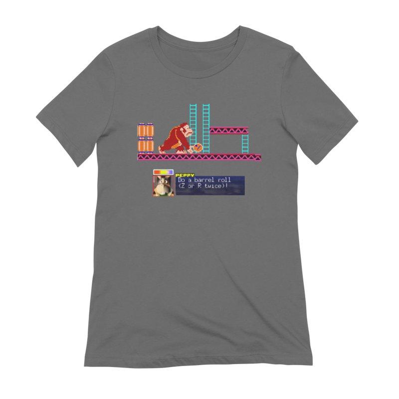 Do A Barrel Roll Women's Extra Soft T-Shirt by DrinkIN GeekOUT's Artist Shop