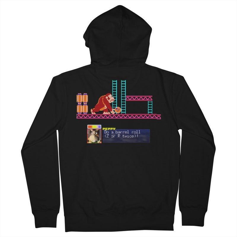 Do A Barrel Roll Women's French Terry Zip-Up Hoody by DrinkIN GeekOUT's Artist Shop