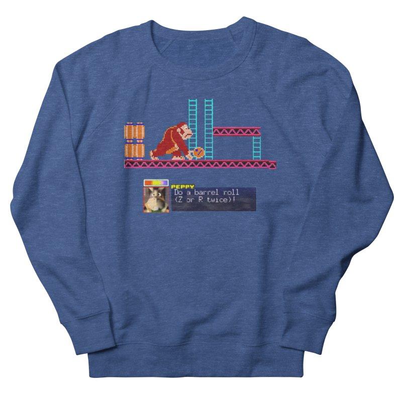 Do A Barrel Roll Men's French Terry Sweatshirt by DrinkIN GeekOUT's Artist Shop