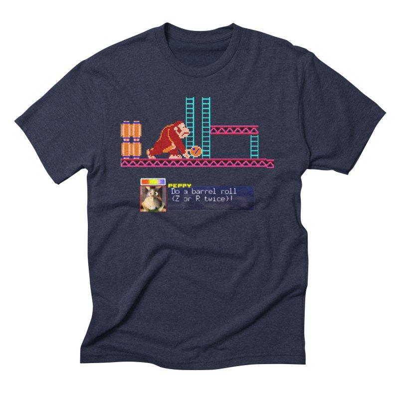 Do A Barrel Roll Men's Triblend T-Shirt by DrinkIN GeekOUT's Artist Shop