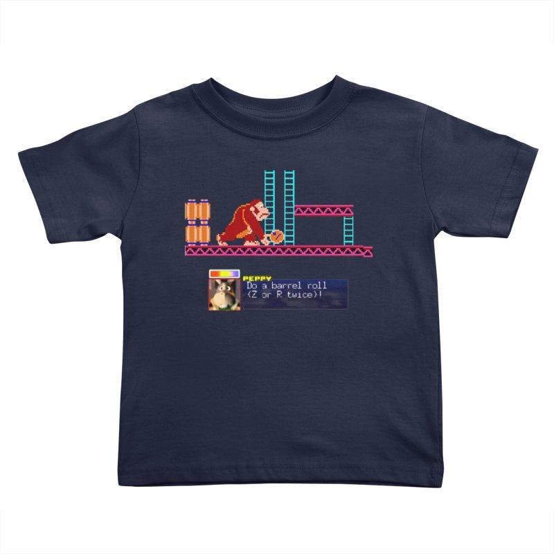 Do A Barrel Roll Kids Toddler T-Shirt by DrinkIN GeekOUT's Artist Shop
