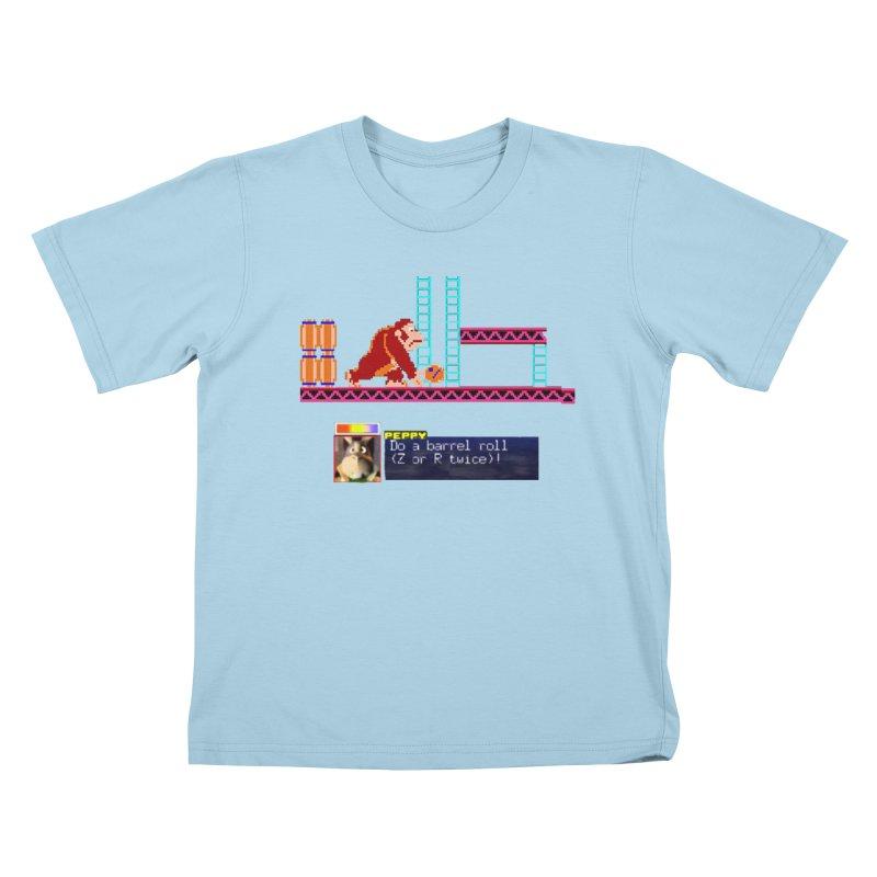 Do A Barrel Roll Kids T-Shirt by DrinkIN GeekOUT's Artist Shop