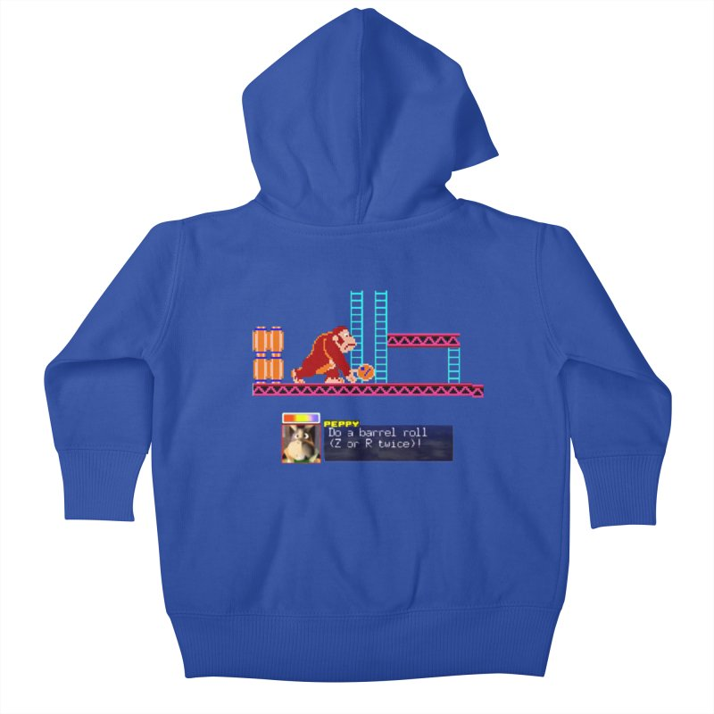 Do A Barrel Roll Kids Baby Zip-Up Hoody by DrinkIN GeekOUT's Artist Shop