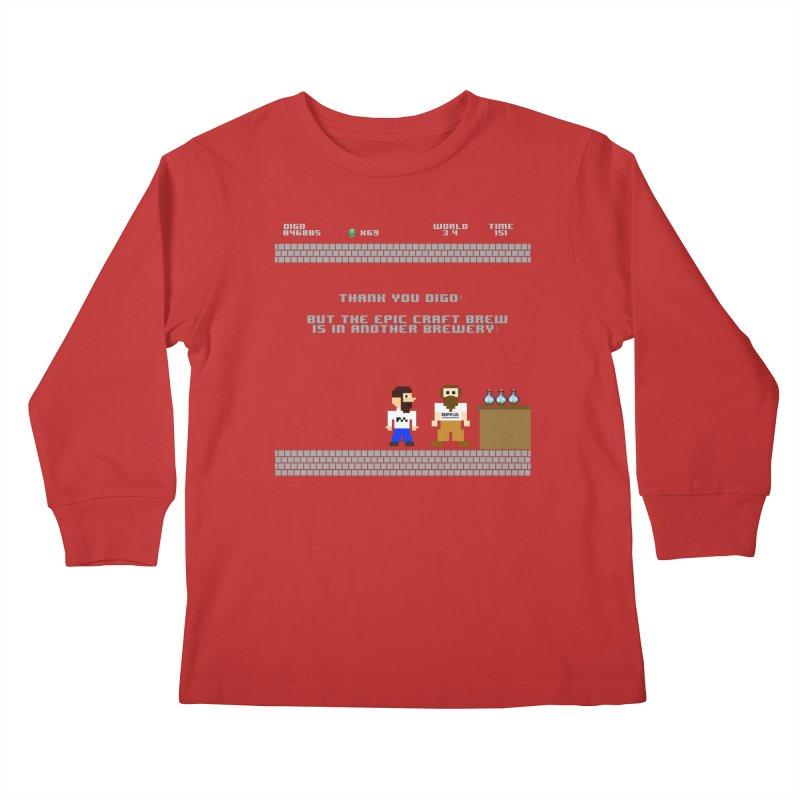 Another Brewery Kids Longsleeve T-Shirt by DrinkIN GeekOUT's Artist Shop
