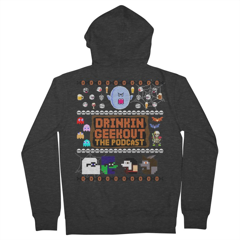 Ugly Halloween Sweeter Men's French Terry Zip-Up Hoody by DrinkIN GeekOUT's Artist Shop