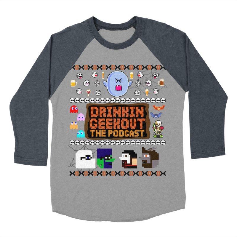 Ugly Halloween Sweeter Men's Baseball Triblend Longsleeve T-Shirt by DrinkIN GeekOUT's Artist Shop