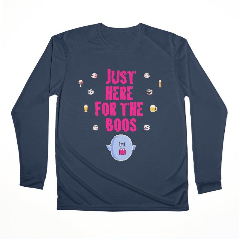 Here 4 Boos Women's Performance Unisex Longsleeve T-Shirt by DrinkIN GeekOUT's Artist Shop