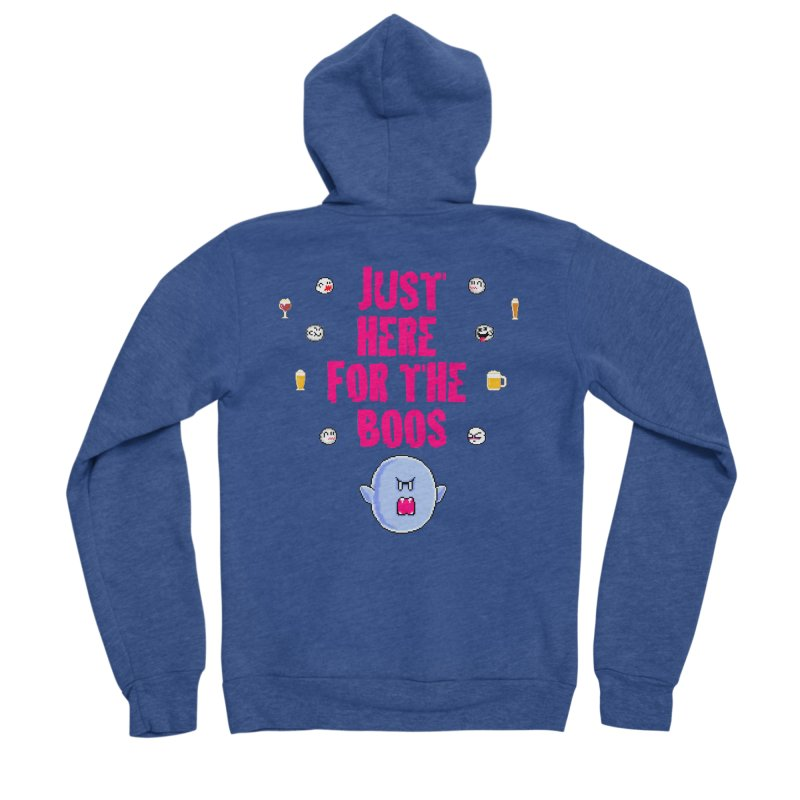 Here 4 Boos Women's Sponge Fleece Zip-Up Hoody by DrinkIN GeekOUT's Artist Shop