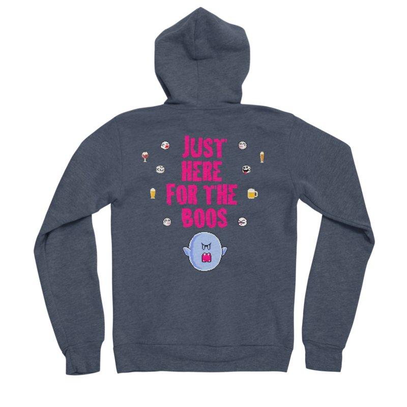 Here 4 Boos Women's Sponge Fleece Zip-Up Hoody by DrinkIN GeekOUT's Artist Shop
