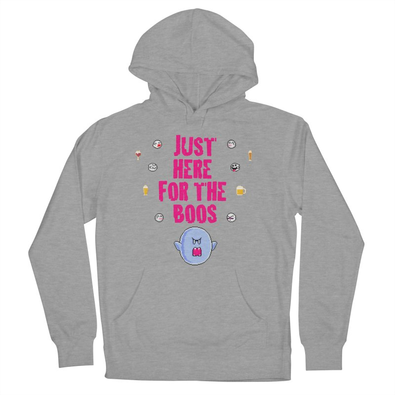 Here 4 Boos Men's French Terry Pullover Hoody by DrinkIN GeekOUT's Artist Shop