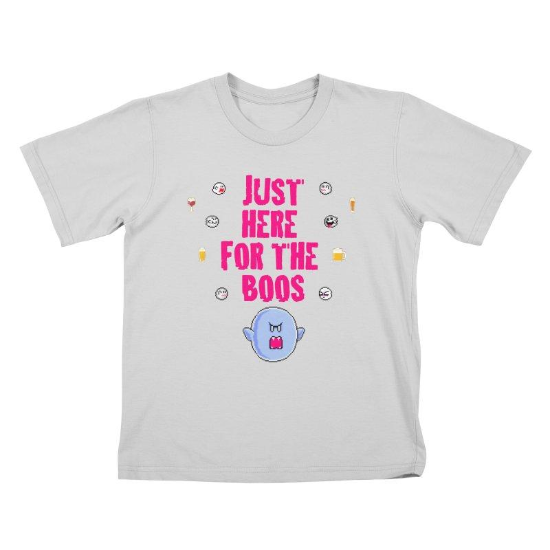 Here 4 Boos Kids T-Shirt by DrinkIN GeekOUT's Artist Shop