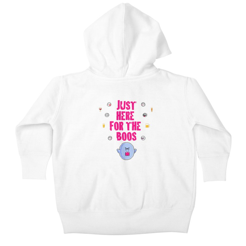 Here 4 Boos Kids Baby Zip-Up Hoody by DrinkIN GeekOUT's Artist Shop
