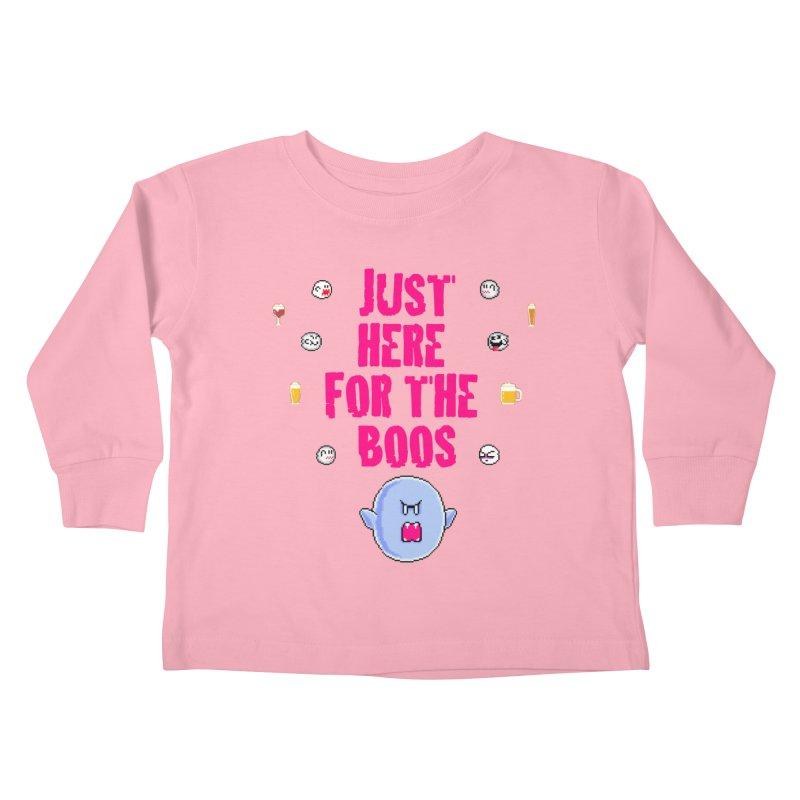 Here 4 Boos Kids Toddler Longsleeve T-Shirt by DrinkIN GeekOUT's Artist Shop