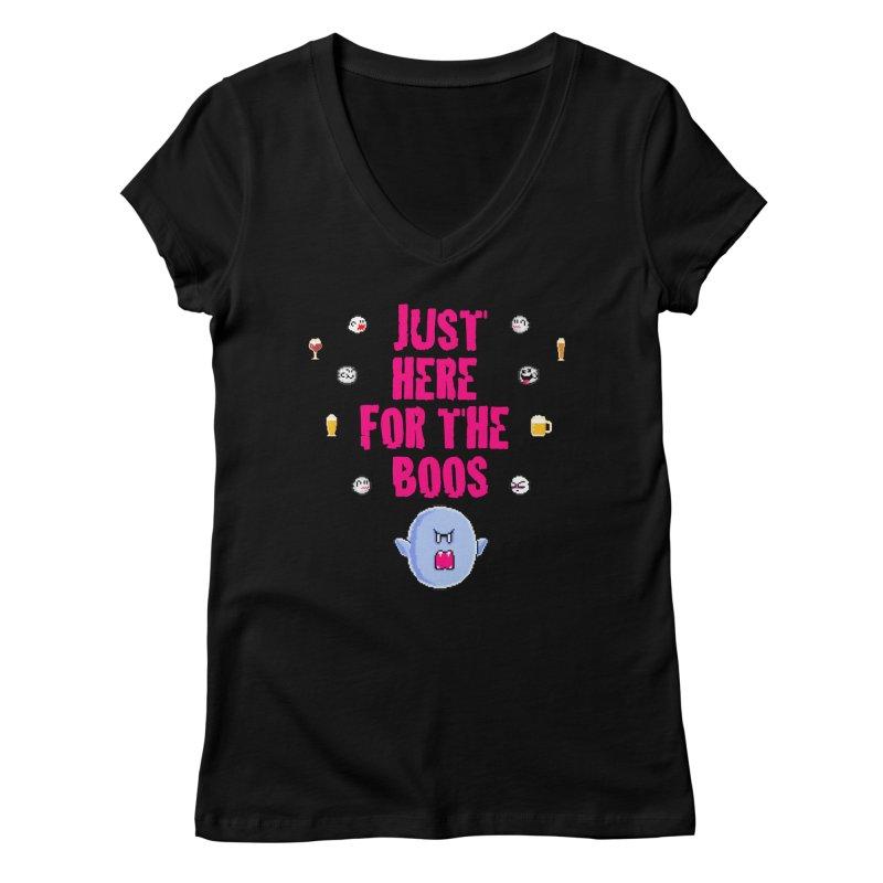 Here 4 Boos Women's V-Neck by DrinkIN GeekOUT's Artist Shop