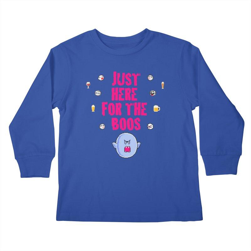 Here 4 Boos Kids Longsleeve T-Shirt by DrinkIN GeekOUT's Artist Shop