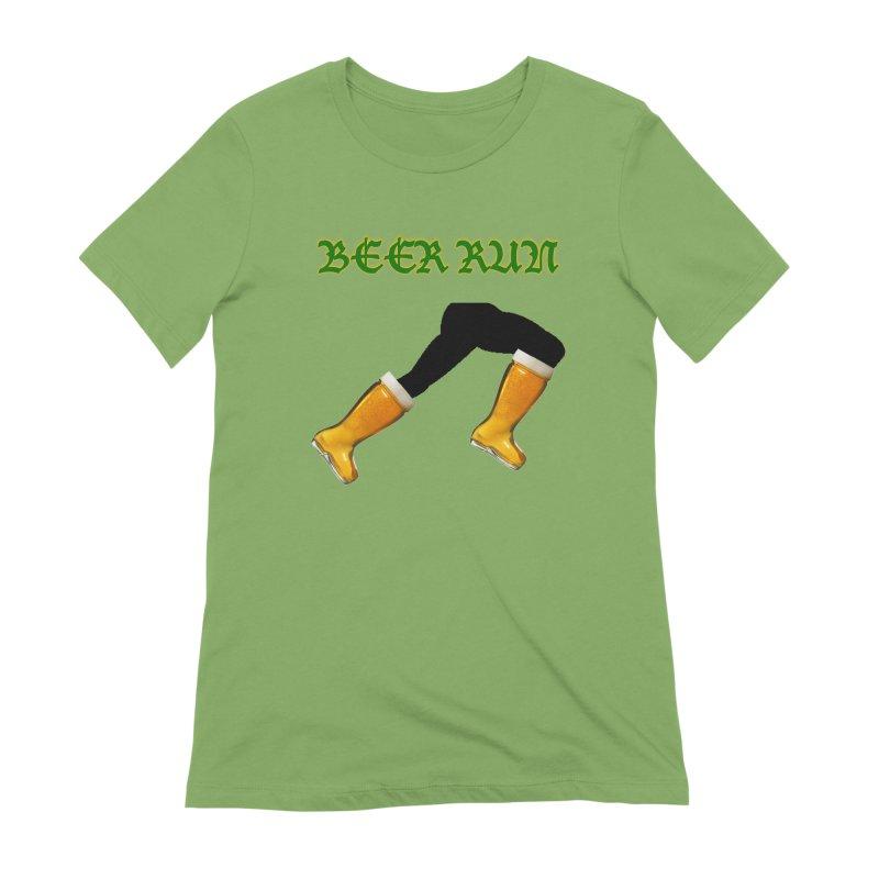 Beer Run Women's Extra Soft T-Shirt by DrinkIN GeekOUT's Artist Shop
