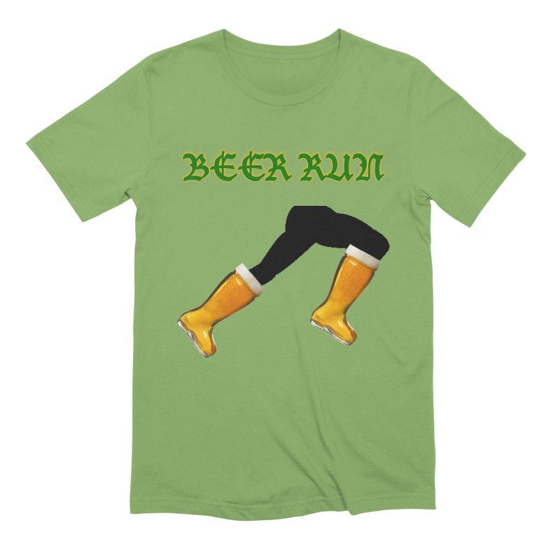 Beer Run Men's Extra Soft T-Shirt by DrinkIN GeekOUT's Artist Shop