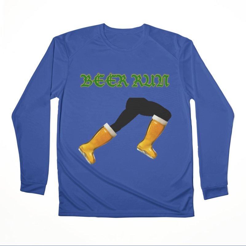 Beer Run Men's Performance Longsleeve T-Shirt by DrinkIN GeekOUT's Artist Shop