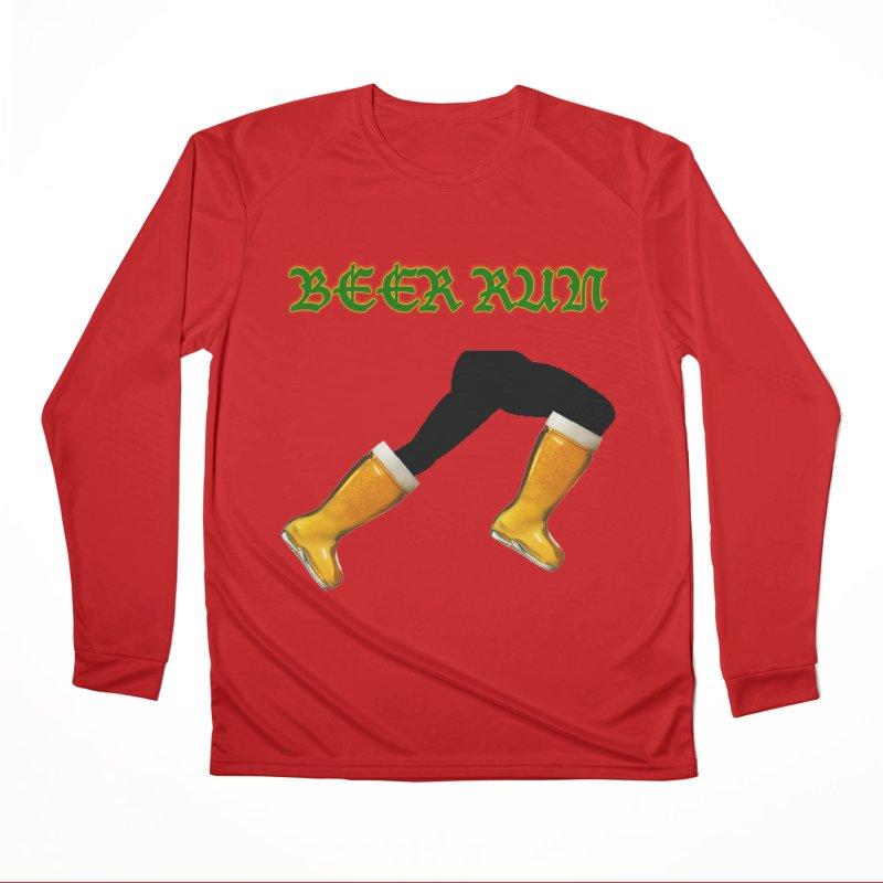 Beer Run Women's Performance Unisex Longsleeve T-Shirt by DrinkIN GeekOUT's Artist Shop