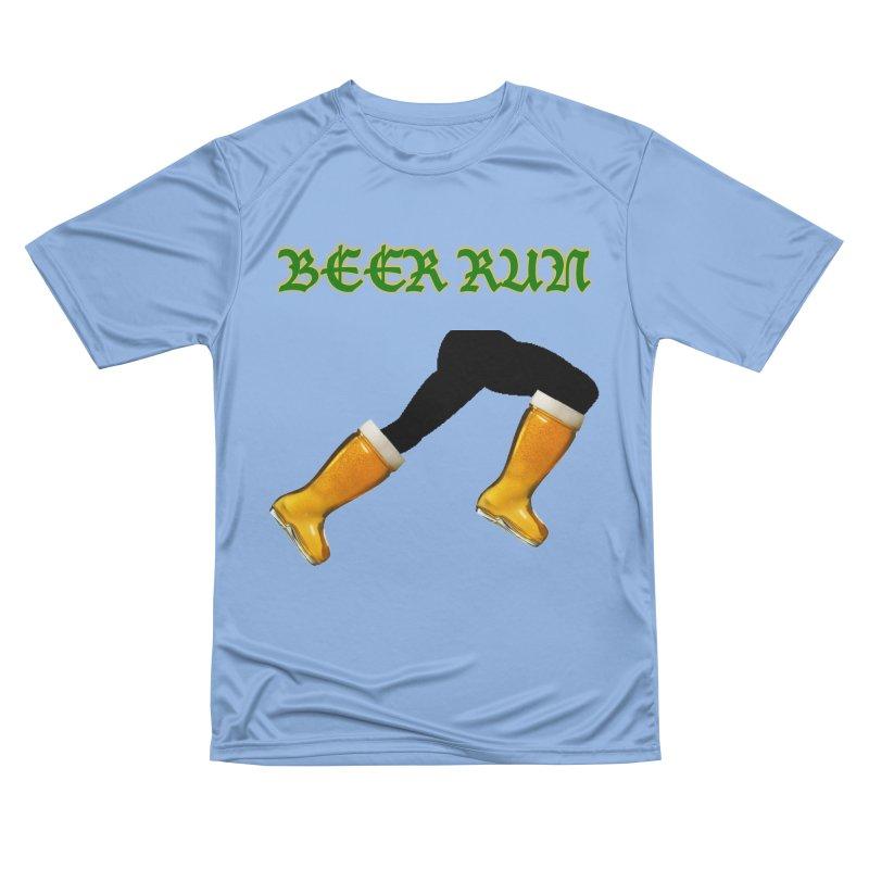 Beer Run Women's Performance Unisex T-Shirt by DrinkIN GeekOUT's Artist Shop