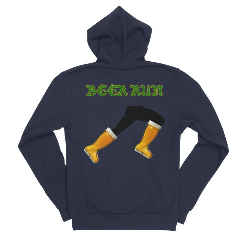 Beer Run Women's Sponge Fleece Zip-Up Hoody by DrinkIN GeekOUT's Artist Shop