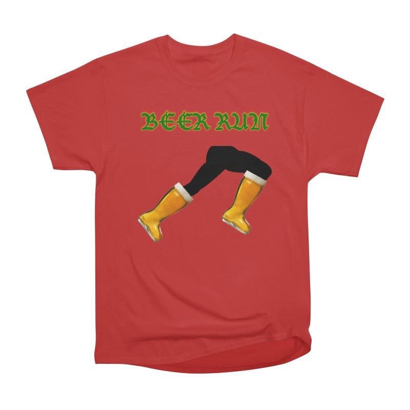 Beer Run Men's Heavyweight T-Shirt by DrinkIN GeekOUT's Artist Shop