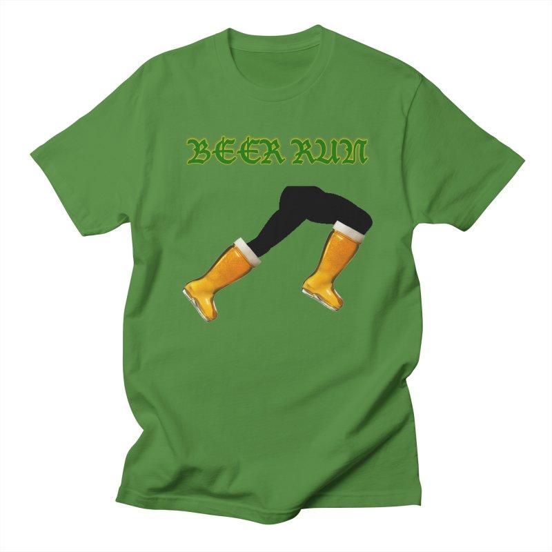 Beer Run Men's Regular T-Shirt by DrinkIN GeekOUT's Artist Shop
