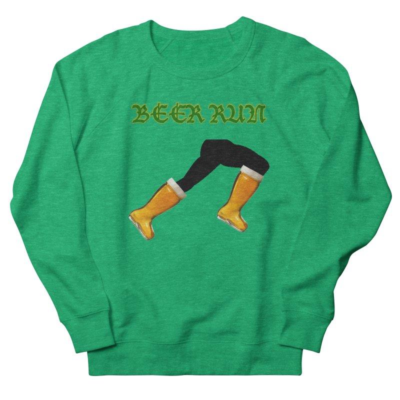 Beer Run Women's French Terry Sweatshirt by DrinkIN GeekOUT's Artist Shop
