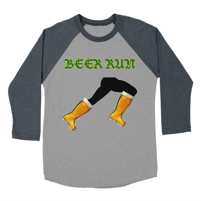 Beer Run Women's Baseball Triblend Longsleeve T-Shirt by DrinkIN GeekOUT's Artist Shop