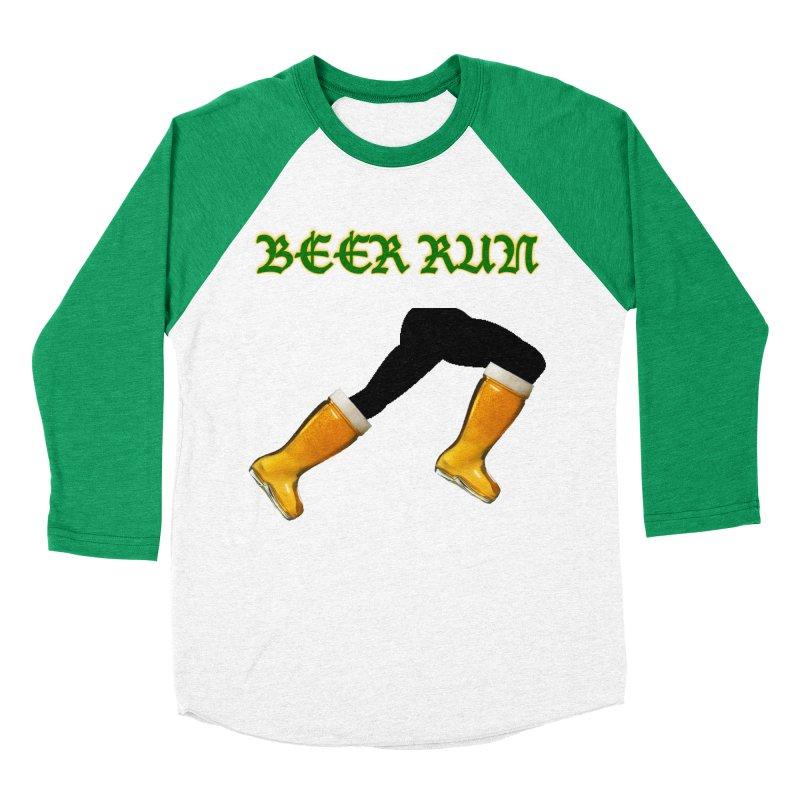 Beer Run Men's Baseball Triblend Longsleeve T-Shirt by DrinkIN GeekOUT's Artist Shop