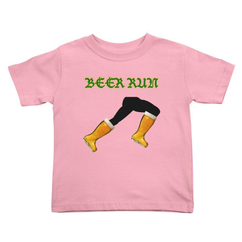 Beer Run Kids Toddler T-Shirt by DrinkIN GeekOUT's Artist Shop