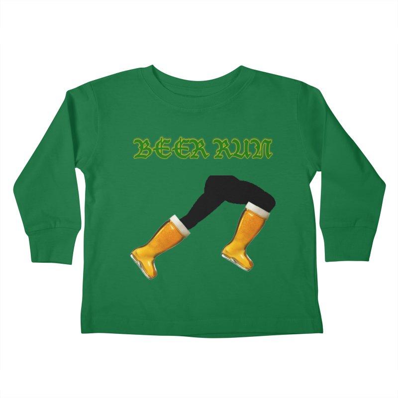 Beer Run Kids Toddler Longsleeve T-Shirt by DrinkIN GeekOUT's Artist Shop