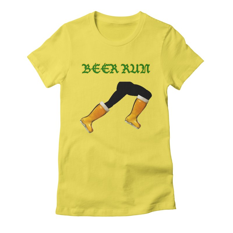 Beer Run Women's Fitted T-Shirt by DrinkIN GeekOUT's Artist Shop