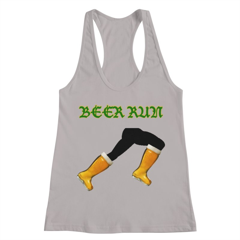 Beer Run Women's Racerback Tank by DrinkIN GeekOUT's Artist Shop