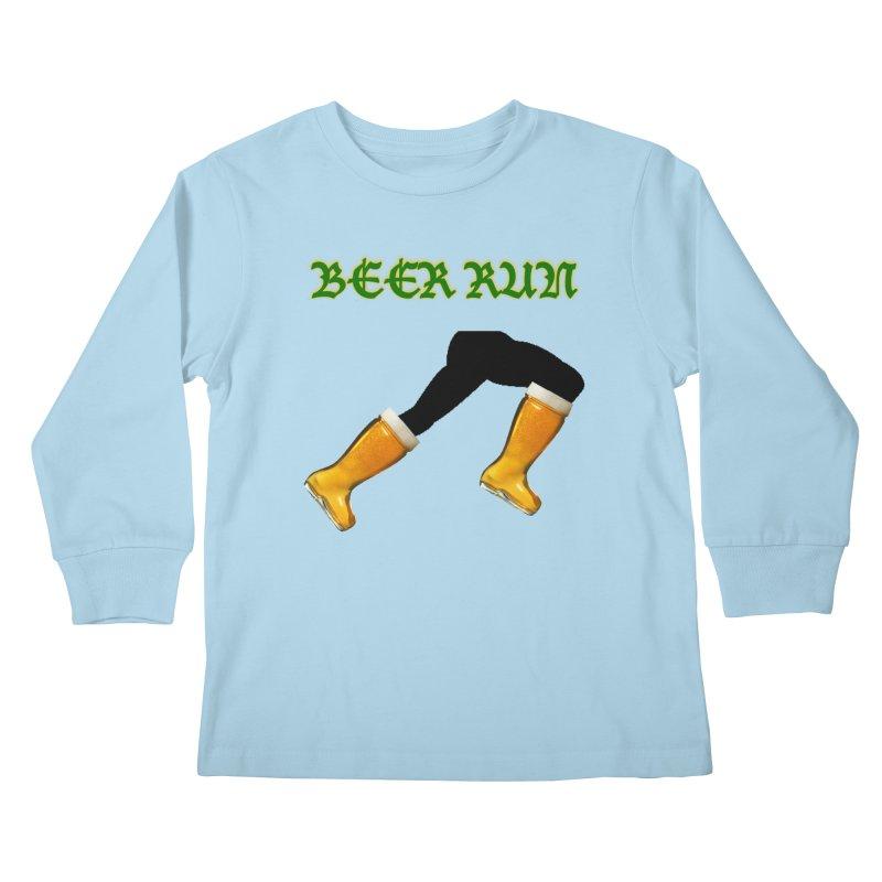 Beer Run Kids Longsleeve T-Shirt by DrinkIN GeekOUT's Artist Shop