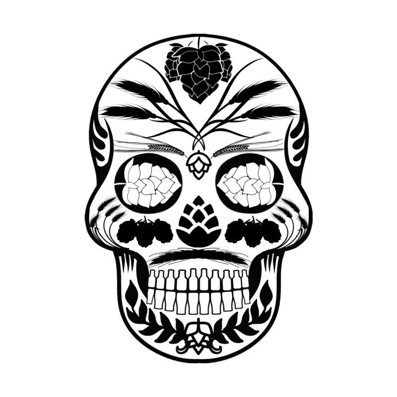 Hoppy Sugar Skull B&W by DrinkIN GeekOUT's Artist Shop