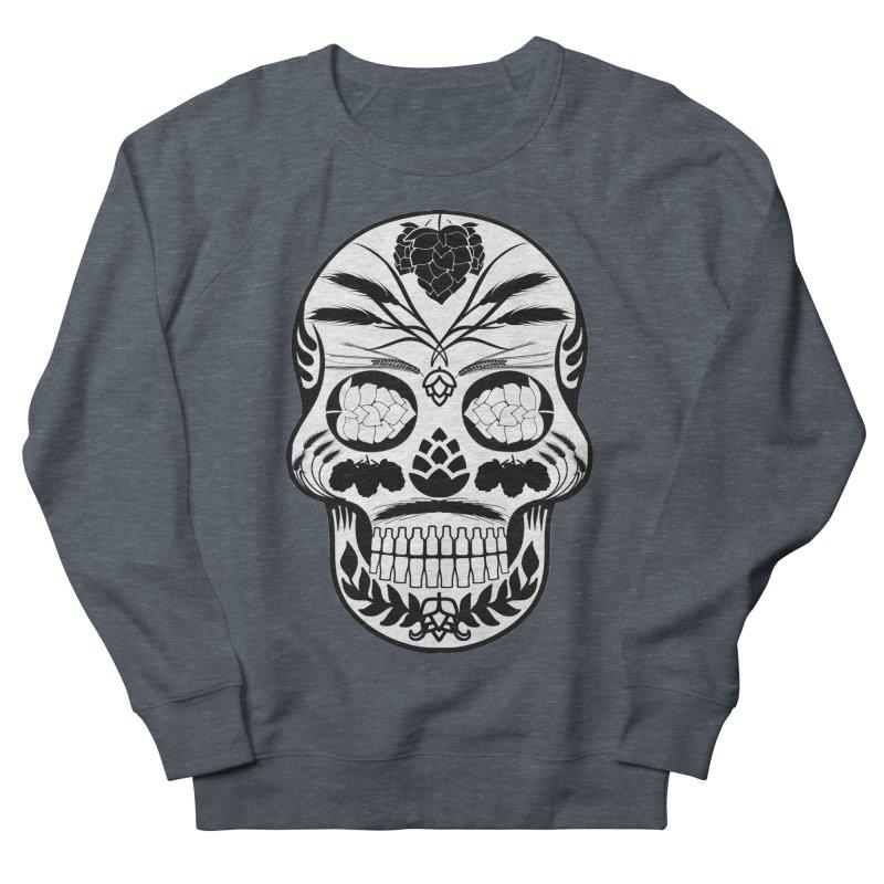 Hoppy Sugar Skull B&W Women's French Terry Sweatshirt by DrinkIN GeekOUT's Artist Shop
