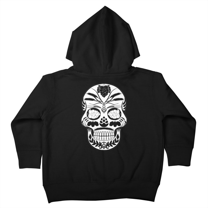 Hoppy Sugar Skull B&W Kids Toddler Zip-Up Hoody by DrinkIN GeekOUT's Artist Shop