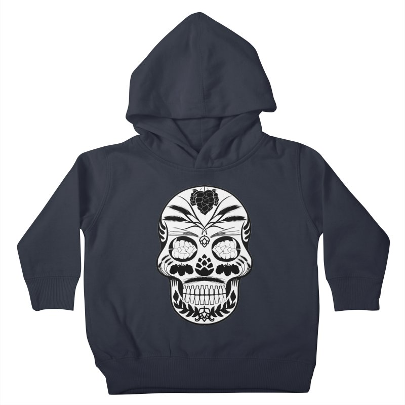 Hoppy Sugar Skull B&W Kids Toddler Pullover Hoody by DrinkIN GeekOUT's Artist Shop